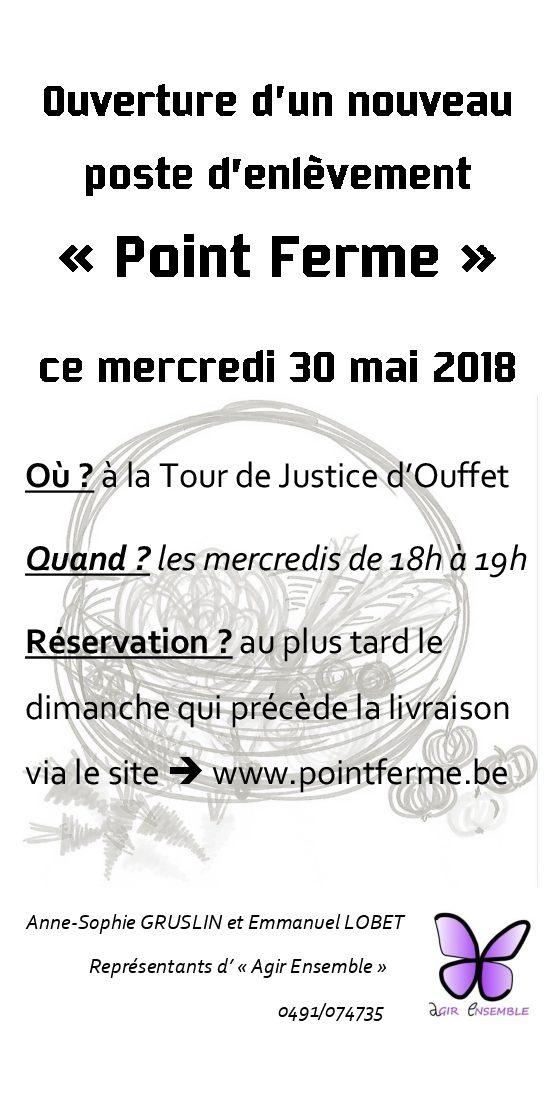 Un «Point ferme» à la Tour de Justice